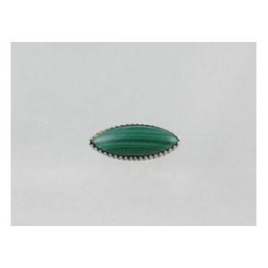 Sterling Silver Malachite Pin - Small