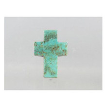 Sterling Silver KingmanTurquoise Cross Ring Size 8 - Adjustable (RG0523)
