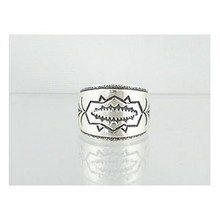 Hand Stamped Sterling Silver Ring Size 6 1/4