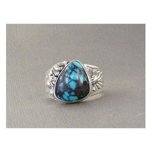 Natural Chinese Turquoise Gem Ring Size 11 1/2