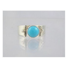 Sterling Silver Sleeping Beauty Turquoise Ring Size 6 (RG1507)