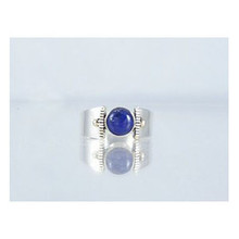 14k Gold & Silver Lapis Ring 9 1/2