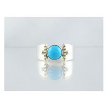 14k Gold & Silver Turquoise Ring Size 5