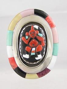 Multi Gemstone Mudhead Dancer Ring Size 7 - Bev Etsate