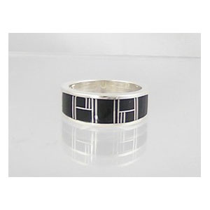 Jet Inlay Ring Size 12