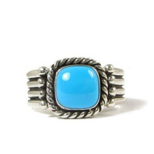 Sleeping Beauty Turquoise Ring Size 7 by Raymond Coriz, Santo Domingo
