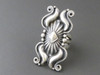 Fancy Handmde Silver Repousse Ring Size 7 by Derrick Gordon