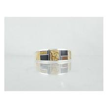 Tiger Eye, Jet & Jasper Inlay Ring Size 11 1/2
