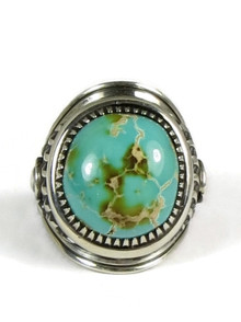Natural Royston Turquoise Ring Size 10 by Derrick Gordon (RG5001)