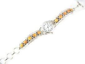 Sterling Silver Orange Spiny Oyster Shell Toggle Watch Bracelet