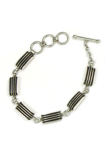 Silver Channel Link Bracelet by Francis Jones (BR5501)