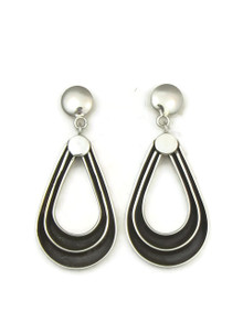 Silver Channel Loop Earrings by Francis Jones