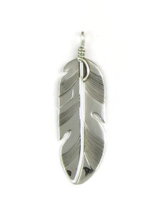 Sterling Silver Feather Pendant by Lena Platero (PD3752)