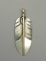 12k Gold & Sterling Silver Feather Pendant by Lena Platero (PD3765a)