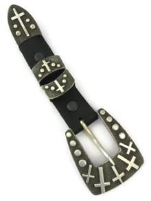 Silver Cross Ranger Belt Buckle Set by Ernest Rangel