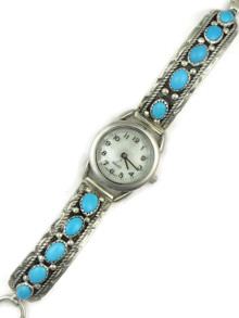 Sleeping Beauty Turquoise Watch Bracelet by Jefferson Francisco