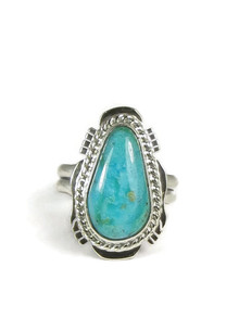 Easter Blue Turquoise Gem Ring Size 6 by Jake Sampson