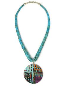 Turquoise & Gemstone Mosaic Inlay Necklace