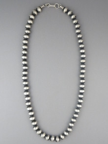"""Antiqued 8mm Sterling Silver Bead Necklace 16"""""""