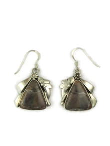 Silver Jasper Earrings by Les Baker Jewelry