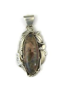 Silver Jasper Pendant by Les Baker Jewelry (PD4807)