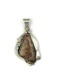 Silver Jasper Pendant by Les Baker Jewelry (PD4808)