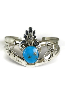 Sterling Silver Blue Gem Bracelet by Les Baker Jewelry (BR5615)