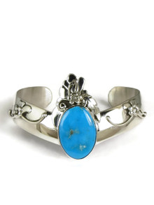 Sterling Silver Blue Gem Bracelet by Les Baker Jewelry (BR5617)