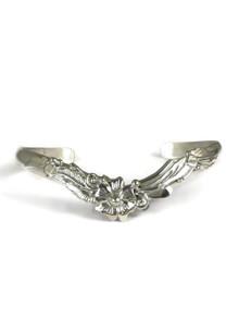 Sterling Silver Flower Bracelet by Les Baker Jewelry