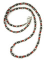"""Mediterran Coral Silver Bead Necklace 36"""""""