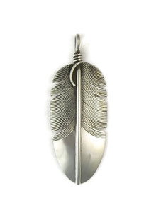 Sterling Silver Feather Pendant by Lena Platero (PD4839)