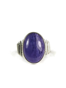 Silver Charoite Ring Size 8 by Thomas Valencia
