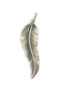 Sterling Silver Feather Pendant by Lena Platero (PD4878)