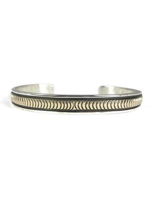 14k Gold & Sterling Silver Bracelet by Bruce Morgan (BR5661)
