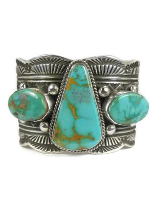 Royston Turquoise Cuff Bracelet by Guy Hoskie