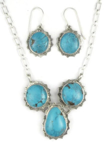 Sierra Nevada Turquoise Necklace Set by Lyle Piaso (NK3372)
