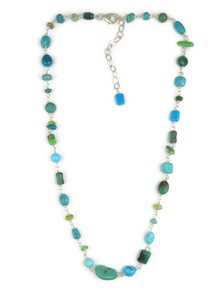 Turquoise & Gaspeite Bead Necklace