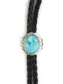 Kingman Turquoise Bolo Tie by John Nelson (BL346)