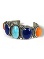 Kingman Turquoise, Lapis & Spiny Oyster Shell Bracelet by Gloria Begay