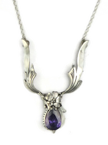 Silver Amethyst Necklace by Les Baker Jewelry