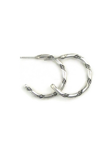 Silver Hoop Earrings by Evelyn Tahe