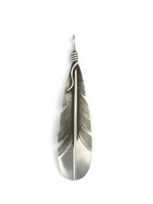 Sterling Silver Feather Pendant by Lena Platero (PD4955)