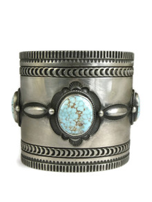 Natural Dry Creek Turquoise Cuff Bracelet by Aaron Toadlena - Small