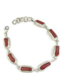 Mediterranean Coral Link Bracelet by Shirley Henry