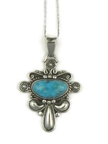 Kingman Turquoise Pendant by Fritson Toledo