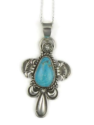 Kingman Turquoise Pendant by Fritson Toledo (PD3776)
