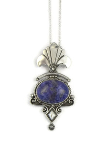 Silver Charoite Pendant by Fritson Toledo