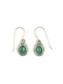 Malachite Earrings by Arlie Nelson