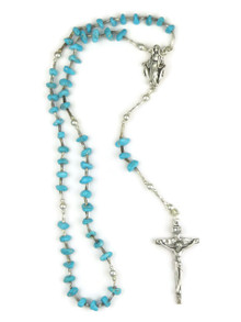 Turquoise Rosary Beads 12 1/2""