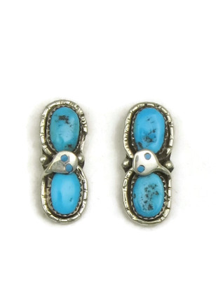 Kingman Turquoise Earrings by Effie Calavaza
